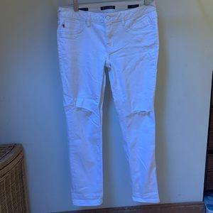 Vigoss Jeans - VIGOSS WHITE RIPPED JEANS